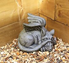 Dragon Gargoyle Garden Decorative Ornament Stone Effect Sculpture Statue Large