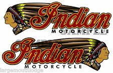 """INDIAN MOTORCYCLE DOUBLE LEFT AND RIGHT  DECAL GUMBALL TOYS CUSTOM 3"""" X .938"""