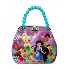 Disney Tinkerbell Shaped Small Tin Box with Beaded Handle for Kids