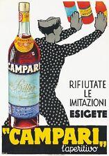 """TARGA VINTAGE """"1935 BITTER CAMPARI"""" PUBBLICITA', ADVERTISING, POSTER, APERITIVO"""