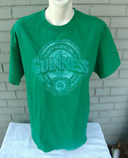 Green Guinness St. Paddy's Patricks Day Stout Beer Ireland T-Shirt Size Large
