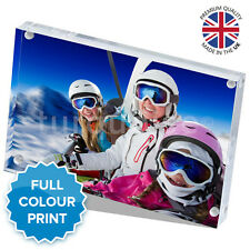 """Personalised Acrylic Photo Block Picture Frame Gift Vision Blox 