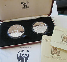 ROYAL MINT MALAWI 1978 10 & 5 KWATCHA SILVER 2 COIN SET  - conservation BOX/COA
