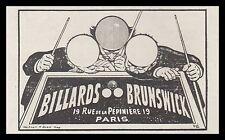 Publicité  Billards Brunswick Billiards vintage print ad  1908 - 2h