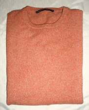 New VALENTINO Italy Cashmere Angora Coral Tan Heather Crewneck Sweater 56 XL