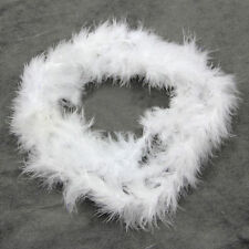 white 2M Feather Boa Strip Fluffy Craft Costume Fancy Dress Party Decoration