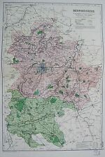 1906 LARGE MAP ENGLISH COUNTIES RAILWAYS BEDFORDSHIRE BEDFORD DUNSTABLE