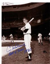 Al Kaline-1954 reprint of autographed photo at old Briggs Stadium-1st year as #6