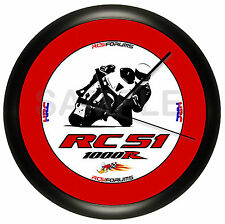 HONDA RC51 WALL CLOCK MOTORCYCLE RED AND BLACK 10 INCH DIAMETER