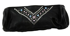 Western Memory Cosmetics Pencil case Leather Strass Swarovski Elements KR106