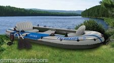 INTEX Excursion 5 Inflatable Rafting/Fishing Dinghy Boat Set 68325EP