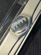 Swatch - Grey Memphis - GM100 - 1984 - Original Gent Standard NEW IN BOX