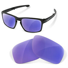 Polarized Replacement Lenses for Oakley lifestyle sliver purple mirror color