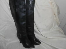 Women's Vintage Classy Black ZODIAC Tall Boots Sz 7.5 Soft Leather