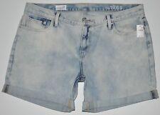 "NEW GAP Women's Sexy Boyfriend Pipeline Wash Shorts Plus Size 33T (W39"" L5 1/4"")"