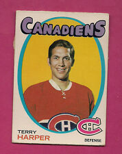 1971-72 OPC # 59 MONTREAL CANADIENS TERRY HARPER  GLUE (INV#0622)