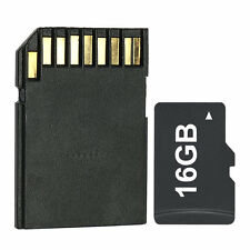 New 16GB Micro SD SDHC TF Memory Card &SD Adapter Free TF Card Reader Class 4