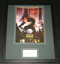 Louis Jourdan Swamp Thing Signed Framed 11x14 Photo Poster Display
