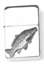 Mirror Carp Emblem Windproof Petrol Lighter FREE ENGRAVING Personalised Gift