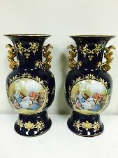 "Pair of  Large porcelain vases. Limoges. Approx 14.50"" Height Beautiful Pair"