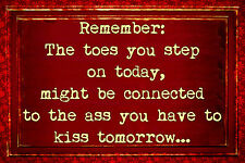*REMEMBER THE TOES YOU STEP ON * MADE IN HAWAII METAL SIGN 8X12 FUNNY BAR OFFICE