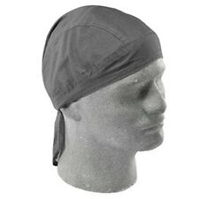 Solid Silver Grey Gray Flydanna Deluxe Biker Head Wrap Bandanna Durag Doo Rag