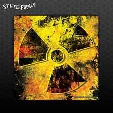 """Radiation """"grunge"""" Decal #FS950 Car Truck Laptop Bumper Sticker Vinyl Zombie Rad"""