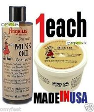 7.75oz 1xPaste 1xLiquid Angelus Mink Oil Compound Leather Conditioner Waterproof