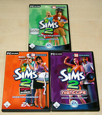 3 pc giochi collezione la Sims 2 Wilde Campus anni Open for Business Nightlife