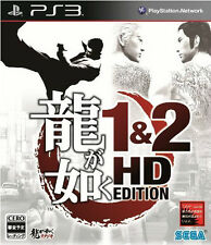 Ryu ga Gotoku 1&2 HD Edition PS3 Playstation 3 Yakuza Game Used Japan