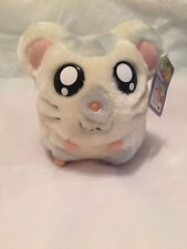"OXNARD Hamtaro Ham Ham 7"" Plush Toy 2002 Stuffed Hamster Bank Hasbro"