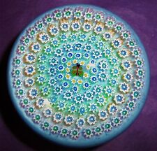 """PERTHSHIRE JOHN DEACONS  XXL 6 ROW """"CONCENTRIC BUTTERFLY MILLEFIORI PAPERWEIGHT"""""""