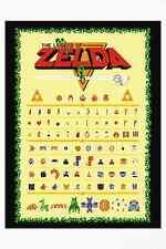 The Legend of Zelda Retro Style Poster - NES Link and Zelda + More, Nintendo Wow
