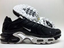NIKE AIR MAX PLUS BLACK/CHROME-BLACK TRAINER SIZE MEN'S 10 [604133-091]