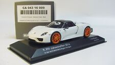1:43 MINICHAMPS 2015 PORSCHE 918 Spyder Weissach Package white orange LE 50 PFF