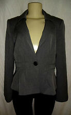 "NANETTE LEPORE ""STAR BRIGHT"" Pleated Jacket In GREY Size 10 $398"