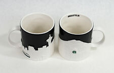 Starbucks 2012 Seattle Relief Collector Series Coffee Tea Mug Cup (Set of 2) New
