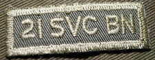 """CANADIAN ARMY COMBAT TAB UNIT BADGE  INSIGNIA  """"21 SVC BN""""  BUY 1 GET 1 FREE"""