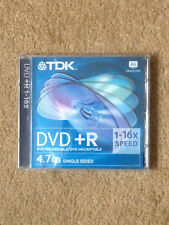 TDK DVD+R Blank DVD Case & Cover ONLY