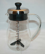 Bodum Chocolatiere Hot Chocolate Maker Mixer Glass Jug  Switzerland Denmark