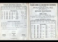 """PARIS (III°) USINE à WITRY-les-REIMS / MOTEUR Marelli """"ATELIERS REMOIS"""" 1950"""