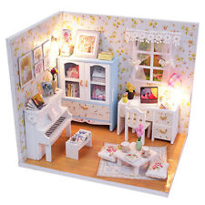 Kits DIY Wood Dollhouse miniature with Furniture Doll house room Angel Dream 4