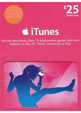 £25 Pound iTunes Gift Certificate Card 25 GBP Apple UK Store key iPhone iPod
