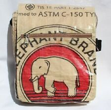 Recycled Elephant Brand Cement Deluxe Small Messenger Bag Fair Trade