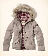 WOMENS HOLLISTER BY ABERCROMBIE SIZE MEDIUM FLANNEL LINED ANORAK JACKET COAT NWT