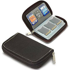 CF Micro SD SDHC MMC Memory Card Holder Storage Carry Pouch Wallet Case Black