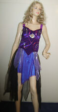 LADIES PURPLE ARABIAN NIGHTS BELLY DANCER FANCY DRESS COSTUME S/M USED