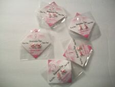 5 Packs  New Pink Breast Cancer Awareness Ribbon Pins 2 Pins To The Pack New