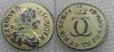 Unusual Silver with Gold Gilt King Charles  II - Twopence Coin - Dated 1679