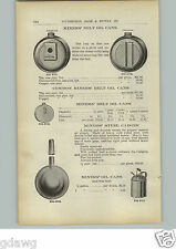 1910 PAPER AD Diamond Coal Miners' Belt Oil Can Cadger Powder Can Dinner Pail